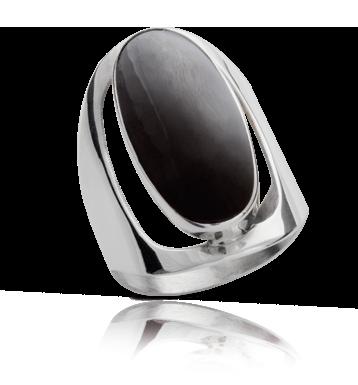 6110cd4bbb93 1828   Anillo grande plata 950 piedra onix – Joyas on Line